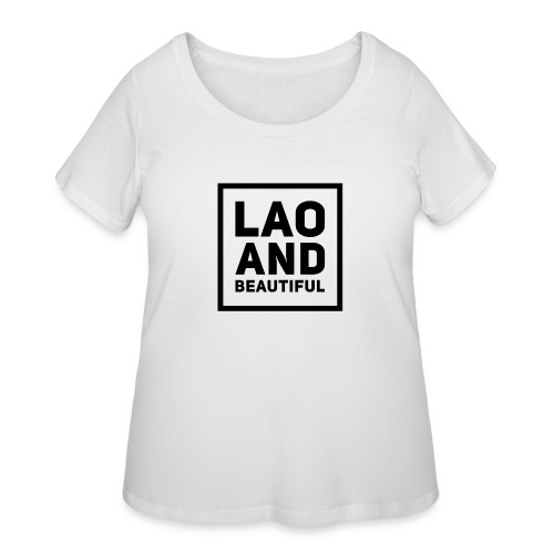 LAO AND BEAUTIFUL black - Women's Curvy T-Shirt