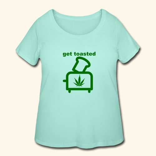 GET TOASTED - Women's Curvy T-Shirt