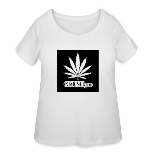 Weed Leaf Gkush710 Hoodies - Women's Curvy T-Shirt