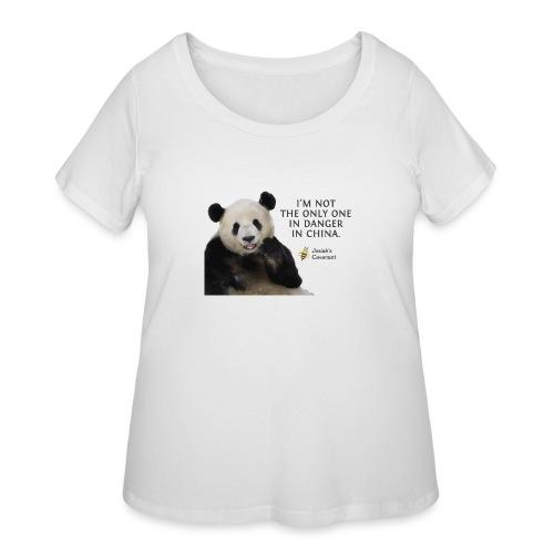 Endangered Pandas - Women's Curvy T-Shirt