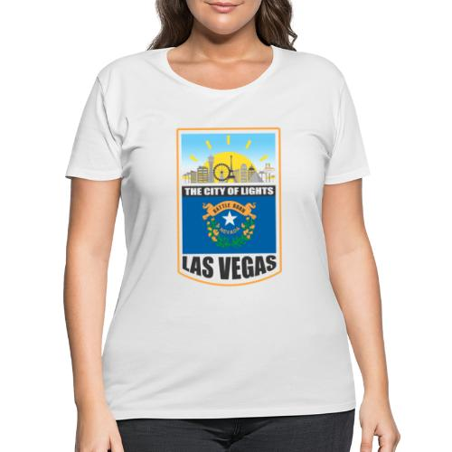 Las Vegas - Nevada - The city of light! - Women's Curvy T-Shirt