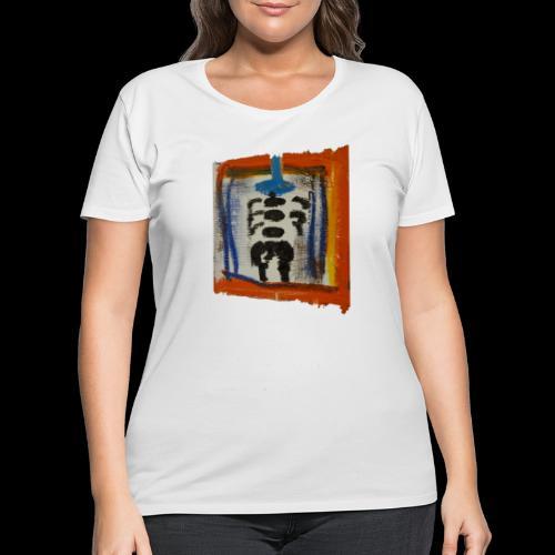 A TOUCH of ART! Unique STREET ART - like Basquiat! - Women's Curvy T-Shirt