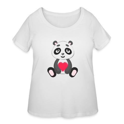 Sweetheart Panda - Women's Curvy T-Shirt
