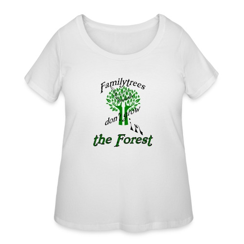 genealogy family tree forest funny birthday gift - Women's Curvy T-Shirt