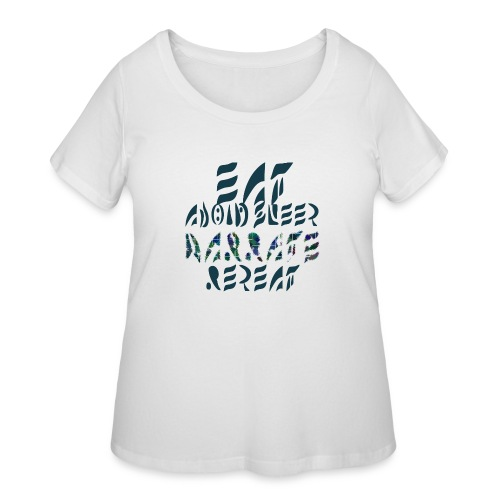 Eat Sleep Narrate Repeat - Women's Curvy T-Shirt