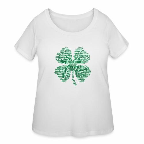 Shamrock Word Cloud - Women's Curvy T-Shirt