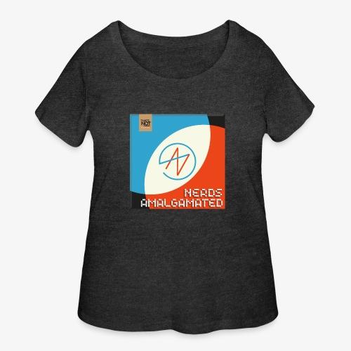 Top Shelf Nerds Cover - Women's Curvy T-Shirt