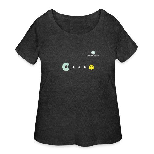 SimpleToken Pacman by Titus - Women's Curvy T-Shirt