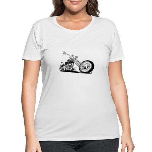 Custom American Chopper Motorcycle - Women's Curvy T-Shirt