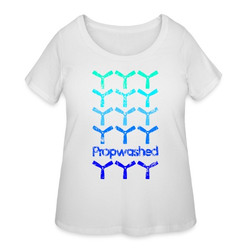 Propwashed Bullnose Prop Blues - Women's Curvy T-Shirt