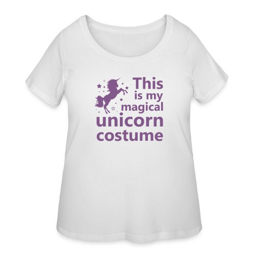 This is my magical unicorn costume - Women's Curvy T-Shirt