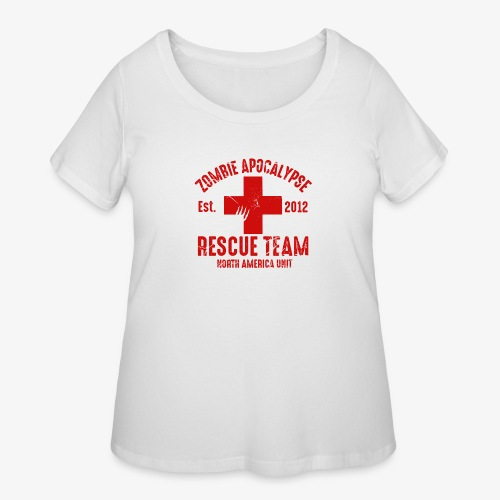 Zombie Rescue Halloween Shirt - Women's Curvy T-Shirt