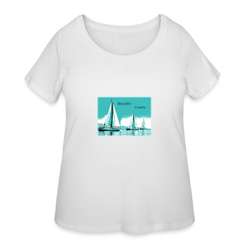 Beautiful Croatia - Women's Curvy T-Shirt