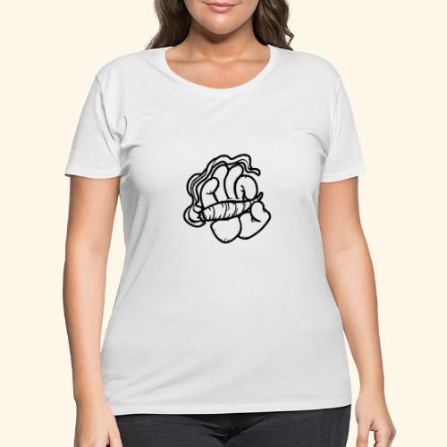 SMOKING HAND - HOODIE / SHIRT - Women's Curvy T-Shirt