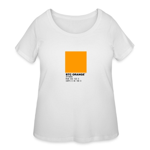 BTC Orange (Bitcoin Tshirt) - Women's Curvy T-Shirt