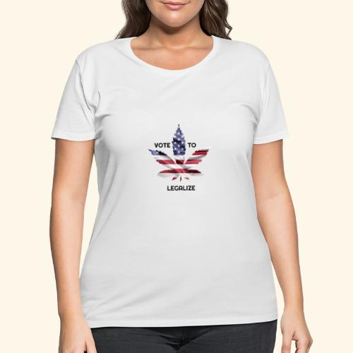 VOTE TO LEGALIZE - AMERICAN CANNABISLEAF SUPPORT - Women's Curvy T-Shirt