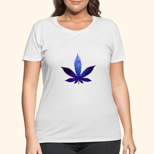 Cannabis Leaf - Galaxy - Weed - Women's Curvy T-Shirt