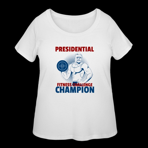 Presidential Fitness Challenge Champ - Roosevelt - Women's Curvy T-Shirt