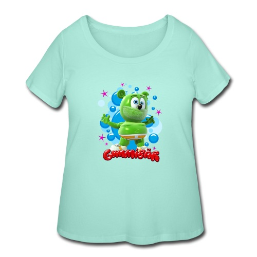 Gummibär Bubbles - Women's Curvy T-Shirt