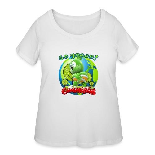 Gummibär Go Green Earth Day Earth - Women's Curvy T-Shirt
