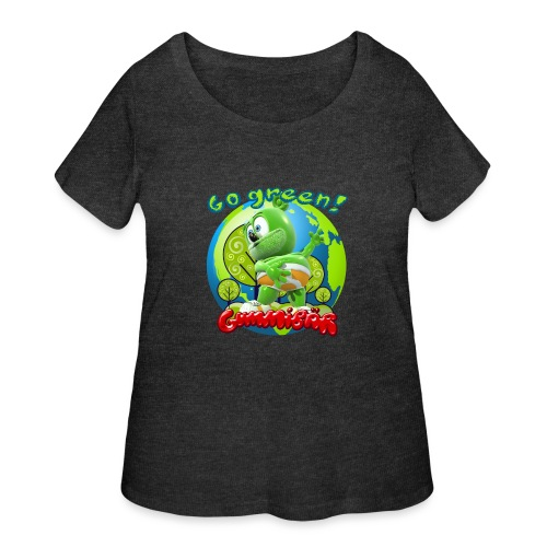 Gummibär Go Green Earth Day Earth - Women's Curvy T-Shirt