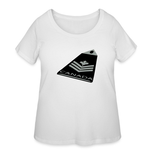Canadian Forces Badge - Women's Curvy T-Shirt