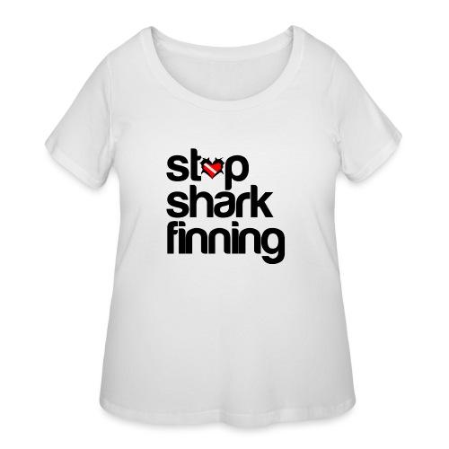 Stop Shark Finning - Women's Curvy T-Shirt