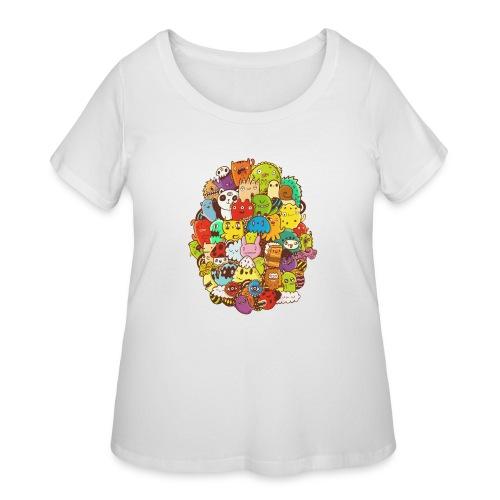 Doodle for a poodle - Women's Curvy T-Shirt