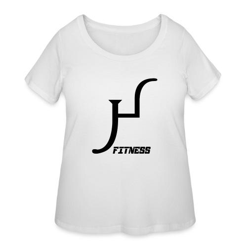 HIIT Life Fitness logo white - Women's Curvy T-Shirt
