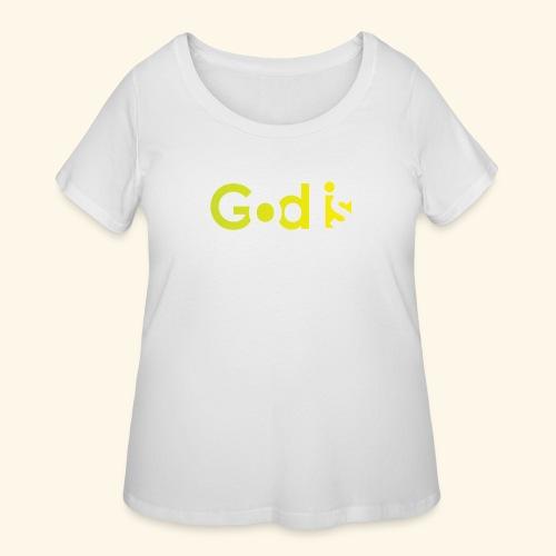 GOD IS #7 - Women's Curvy T-Shirt