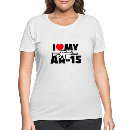 I LOVE MY AR-15 - Women's Curvy T-Shirt