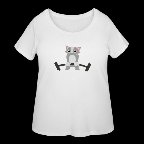 Muscle Cat - Women's Curvy T-Shirt
