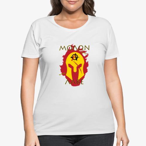 Molon Labe - Anarchist's Edition - Women's Curvy T-Shirt
