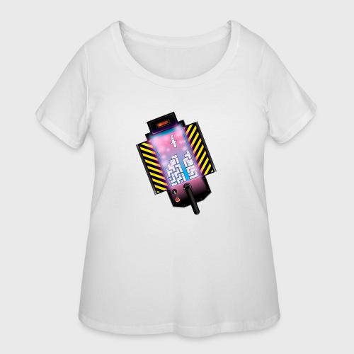 Ghostbusters Tetris Fair Use Mashup - Women's Curvy T-Shirt