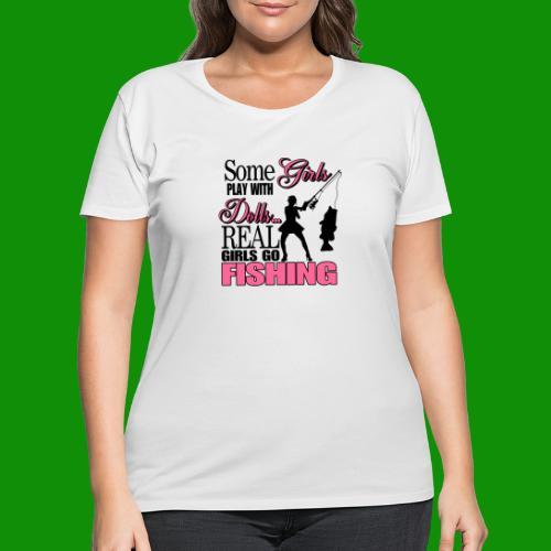 Real Girls Go Fishing - Women's Curvy T-Shirt