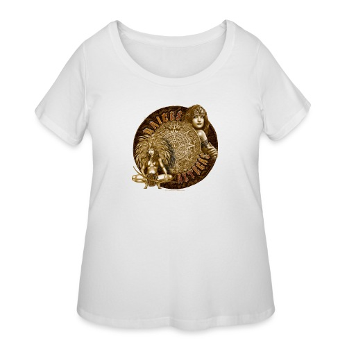 Raices Aztecas by RollinLow - Women's Curvy T-Shirt