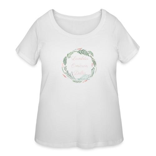 LOD Flower Wreath 1 - Women's Curvy T-Shirt
