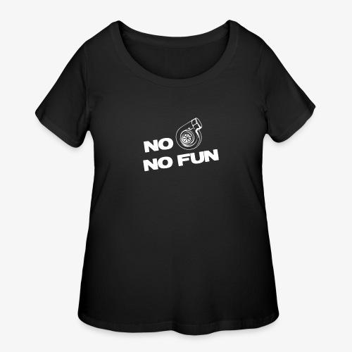 No turbo no fun - Women's Curvy T-Shirt