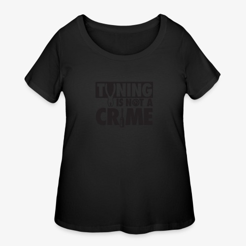 Tuning is not a crime - Women's Curvy T-Shirt