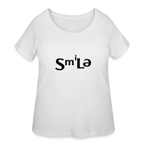 Smile Abstract Design - Women's Curvy T-Shirt
