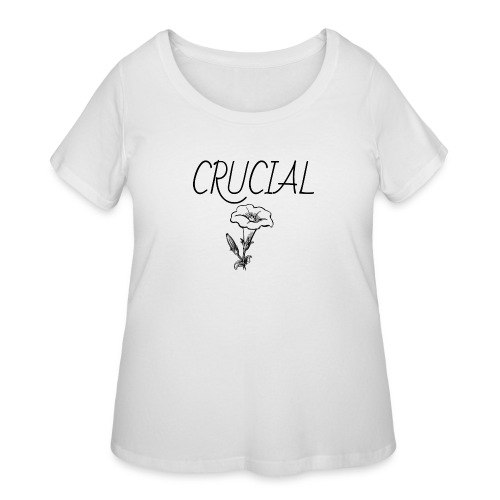 Crucial Abstract Design - Women's Curvy T-Shirt