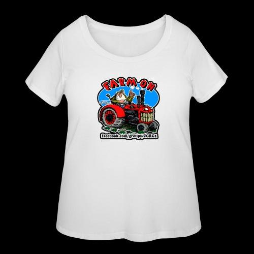Mr Natural Farm On - Women's Curvy T-Shirt