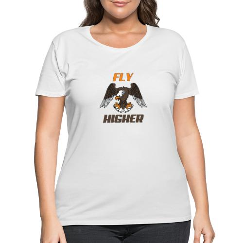Fly High Think Higher - The motivational design - Women's Curvy T-Shirt