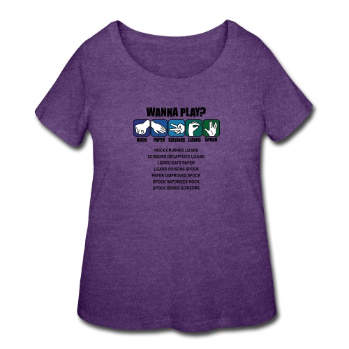 rock paper scissors lizard spock shirt - Women's Curvy T-Shirt