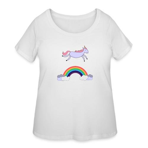 Flying Unicorn - Women's Curvy T-Shirt