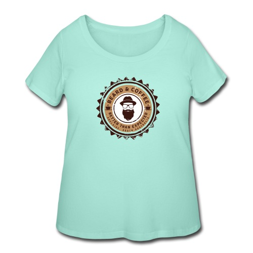 Beard and Coffee Merch - Women's Curvy T-Shirt