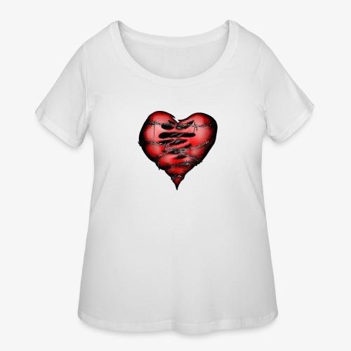 Chains Heart Ceramic Mug - Women's Curvy T-Shirt