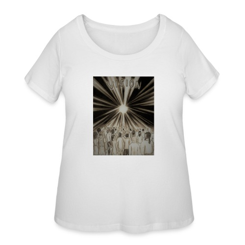 Black_and_White_Vision2 - Women's Curvy T-Shirt