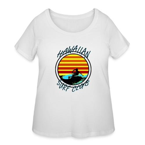 Hawaiian Surf Club - Women's Curvy T-Shirt