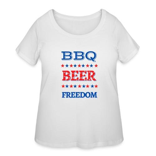 BBQ BEER FREEDOM - Women's Curvy T-Shirt